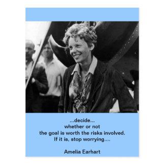 Retrato de la foto de Amelia Earhart del vintage Tarjetas Postales