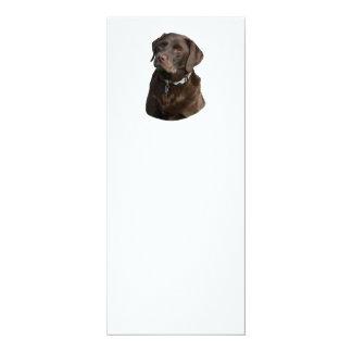 """Retrato de la foto de Labrador del chocolate Invitación 4"""" X 9.25"""""""