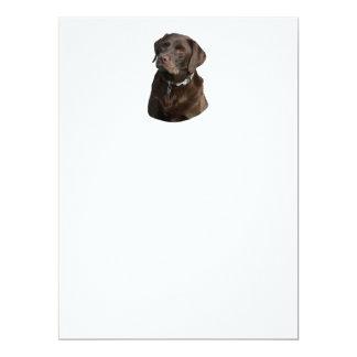 """Retrato de la foto de Labrador del chocolate Invitación 6.5"""" X 8.75"""""""