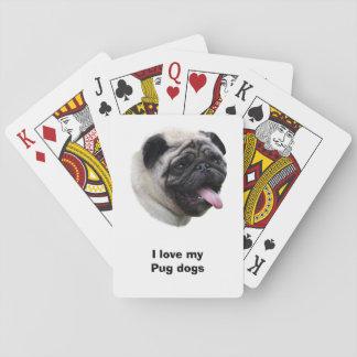 Retrato de la foto del mascota del perro del barro cartas de póquer