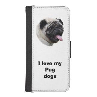 Retrato de la foto del mascota del perro del barro billetera para iPhone 5