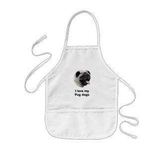 Retrato de la foto del mascota del perro del barro delantal infantil