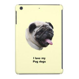 Retrato de la foto del mascota del perro del barro fundas de iPad mini retina