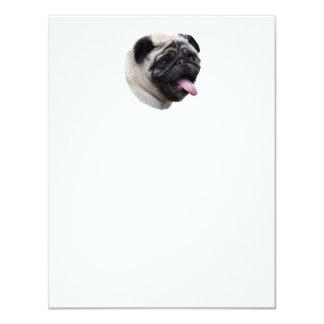Retrato de la foto del mascota del perro del barro invitación 10,8 x 13,9 cm