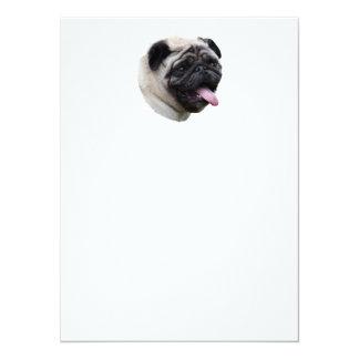 Retrato de la foto del mascota del perro del barro invitación 13,9 x 19,0 cm