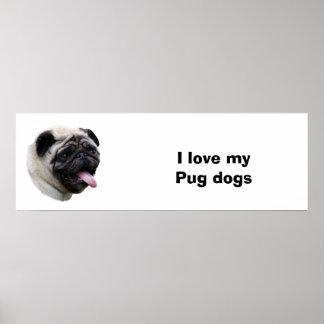 Retrato de la foto del mascota del perro del barro posters