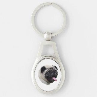 Retrato de la foto del mascota del perro del barro llaveros