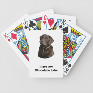 Retrato de la foto del perro de Labrador del Baraja Cartas De Poker