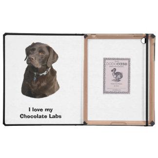 Retrato de la foto del perro de Labrador del iPad Cárcasas