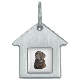 Retrato de la foto del perro de Labrador del Placa De Mascota