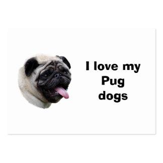Retrato de la foto del perro del barro amasado tarjetas de visita