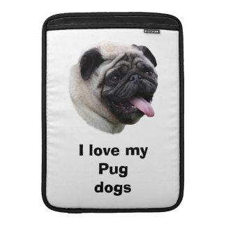 Retrato de la foto del perro del barro amasado fundas MacBook