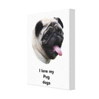 Retrato de la foto del perro del barro amasado impresiones de lienzo