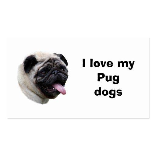 Retrato de la foto del perro del barro amasado tarjeta de visita