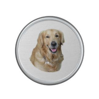 Retrato de la foto del perro del golden retriever altavoz con bluetooth