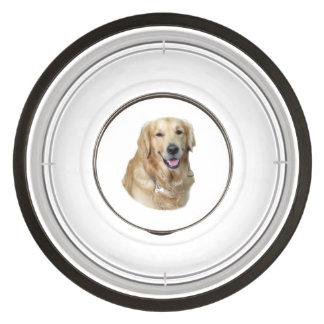Retrato de la foto del perro del golden retriever cuenco acrílico