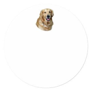 """Retrato de la foto del perro del golden retriever invitación 5.25"""" x 5.25"""""""