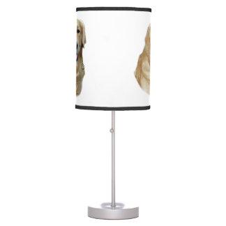 Retrato de la foto del perro del golden retriever lámpara de mesilla de noche
