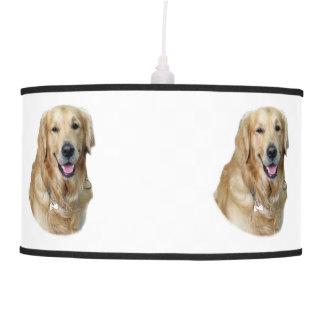 Retrato de la foto del perro del golden retriever lámpara de techo