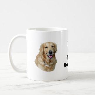 Retrato de la foto del perro del golden retriever taza clásica