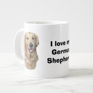 Retrato de la foto del perro del golden retriever taza grande