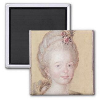 Retrato de la hija de Carl Linnaeus Imán Cuadrado
