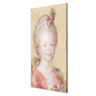Retrato de la hija de Carl Linnaeus Impresión En Tela