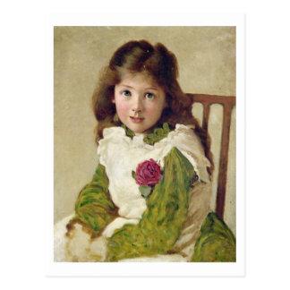 Retrato de la hija del artista (aceite en lona) postal