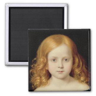 Retrato de la hija del artista imán para frigorífico