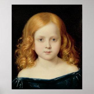 Retrato de la hija del artista póster