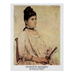 Retrato de la hijastra de Giovanni Fattori Poster