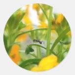 Retrato de la hormiga con los Wallflowers Pegatina Redonda