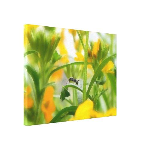 Retrato de la hormiga con los Wallflowers siberian Impresión De Lienzo