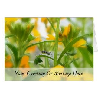 Retrato de la hormiga con los Wallflowers Tarjeta De Felicitación