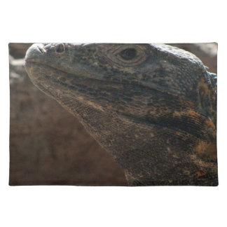 Retrato de la iguana mantel individual