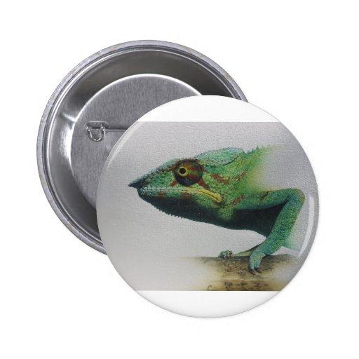 Retrato de la iguana pin redondo 5 cm