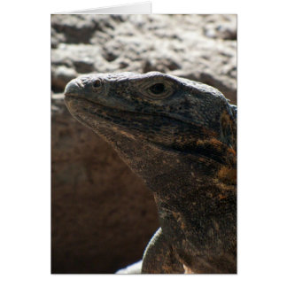 Retrato de la iguana tarjeta de felicitación