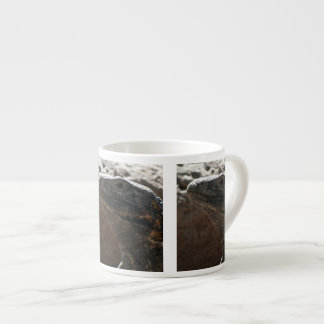 Retrato de la iguana taza espresso