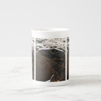 Retrato de la iguana tazas de porcelana