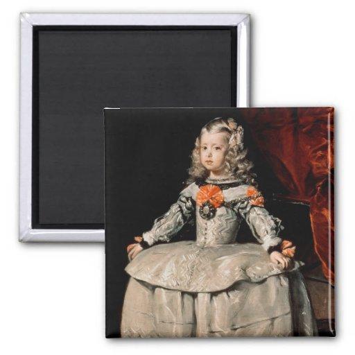 Retrato de la infanta Margarita envejecida cinco Imán Cuadrado