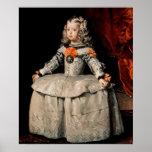 Retrato de la infanta Margarita envejecida cinco Póster