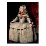 Retrato de la infanta Margarita envejecida cinco Tarjetas Postales