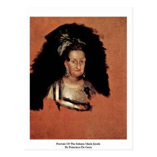 Retrato de la infanta Maria Josefa Postal