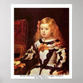 Retrato de la infanta Maria Margarita Posters