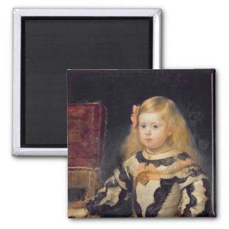 Retrato de la infanta Maria Marguerita 1654 Imán Cuadrado