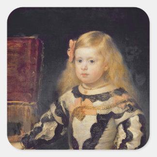 Retrato de la infanta Maria Marguerita 1654 Calcomanía Cuadradase