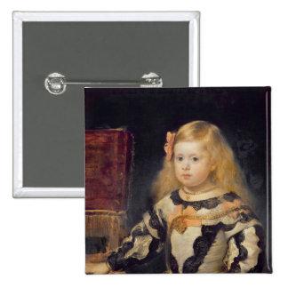 Retrato de la infanta Maria Marguerita 1654 Pin Cuadrada 5 Cm
