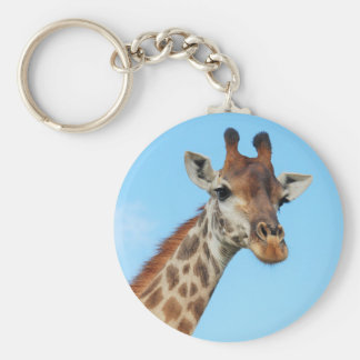 Retrato de la jirafa llavero