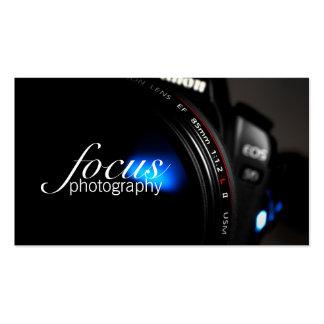 Retrato de la lente de cámara de la fotografía del tarjeta de visita