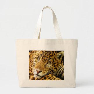 Retrato de la macro del leopardo bolsa de mano